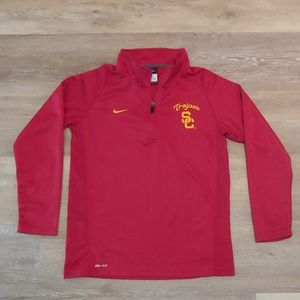 Youth Nike Dri-Fit USC Trojans Pullover Shirt